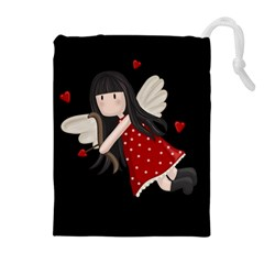 Cupid Girl Drawstring Pouches (extra Large)