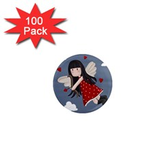 Cupid Girl 1  Mini Magnets (100 Pack)