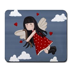 Cupid Girl Large Mousepads