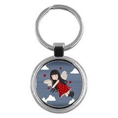 Cupid Girl Key Chains (round)