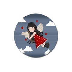 Cupid Girl Magnet 3  (round)