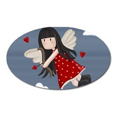 Cupid Girl Oval Magnet
