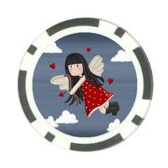 Cupid Girl Poker Chip Card Guard (10 Pack)
