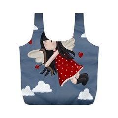 Cupid Girl Full Print Recycle Bags (m)