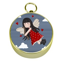Cupid Girl Gold Compasses