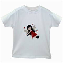 Cupid Girl Kids White T Shirts