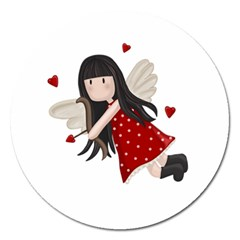 Cupid Girl Magnet 5  (round)