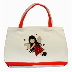 Cupid Girl Classic Tote Bag (red)