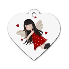 Cupid Girl Dog Tag Heart (two Sides)