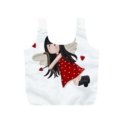 Cupid Girl Full Print Recycle Bags (s)