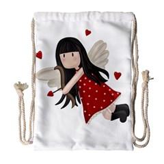 Cupid Girl Drawstring Bag (large)