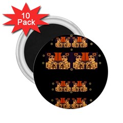 Geisha With Friends In Lotus Garden Having A Calm Evening 2 25  Magnets (10 Pack)