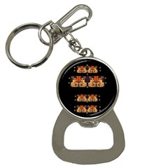Geisha With Friends In Lotus Garden Having A Calm Evening Bottle Opener Key Chains