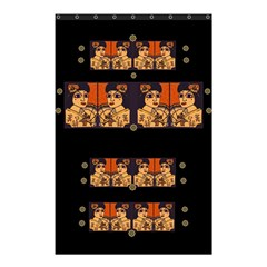 Geisha With Friends In Lotus Garden Having A Calm Evening Shower Curtain 48  X 72  (small)