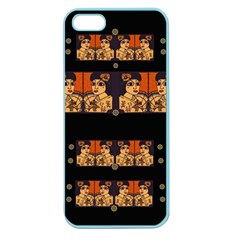 Geisha With Friends In Lotus Garden Having A Calm Evening Apple Seamless Iphone 5 Case (color)