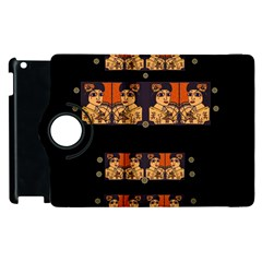 Geisha With Friends In Lotus Garden Having A Calm Evening Apple Ipad 2 Flip 360 Case