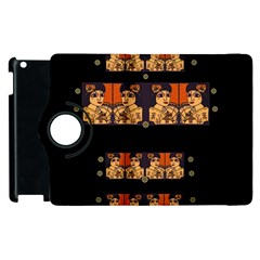 Geisha With Friends In Lotus Garden Having A Calm Evening Apple Ipad 3/4 Flip 360 Case