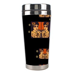 Geisha With Friends In Lotus Garden Having A Calm Evening Stainless Steel Travel Tumblers