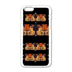 Geisha With Friends In Lotus Garden Having A Calm Evening Apple Iphone 6/6s White Enamel Case