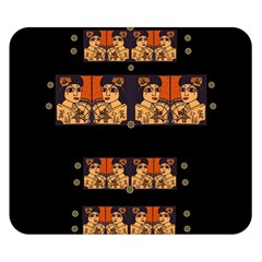 Geisha With Friends In Lotus Garden Having A Calm Evening Double Sided Flano Blanket (small)