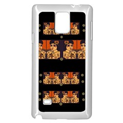 Geisha With Friends In Lotus Garden Having A Calm Evening Samsung Galaxy Note 4 Case (white)