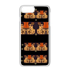 Geisha With Friends In Lotus Garden Having A Calm Evening Apple Iphone 8 Plus Seamless Case (white)