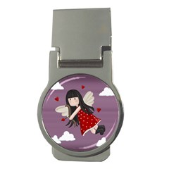 Cupid Girl Money Clips (round)
