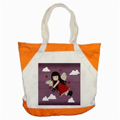 Cupid Girl Accent Tote Bag