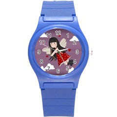 Cupid Girl Round Plastic Sport Watch (s)