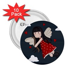 Cupid Girl 2 25  Buttons (10 Pack)