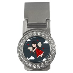 Cupid Girl Money Clips (cz)