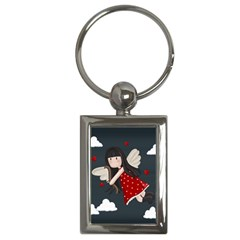 Cupid Girl Key Chains (rectangle)