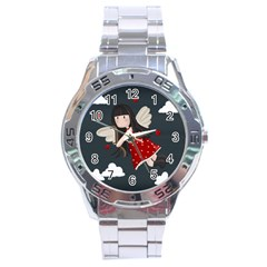 Cupid Girl Stainless Steel Analogue Watch