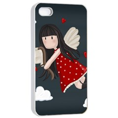 Cupid Girl Apple Iphone 4/4s Seamless Case (white)