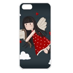 Cupid Girl Apple Iphone 5 Seamless Case (white)