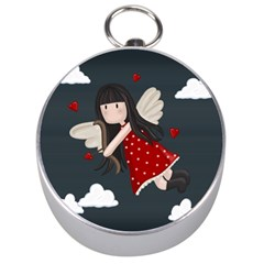 Cupid Girl Silver Compasses