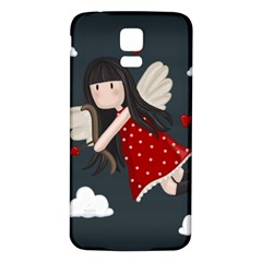 Cupid Girl Samsung Galaxy S5 Back Case (white)
