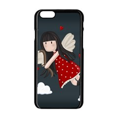 Cupid Girl Apple Iphone 6/6s Black Enamel Case
