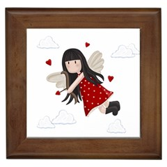 Cupid Girl Framed Tiles