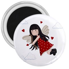 Cupid Girl 3  Magnets