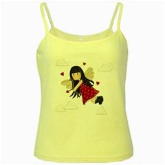 Cupid Girl Yellow Spaghetti Tank