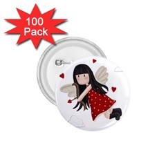 Cupid Girl 1 75  Buttons (100 Pack)