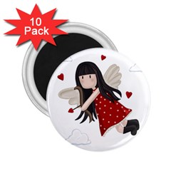 Cupid Girl 2 25  Magnets (10 Pack)