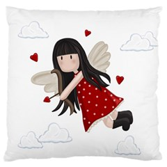 Cupid Girl Standard Flano Cushion Case (two Sides)