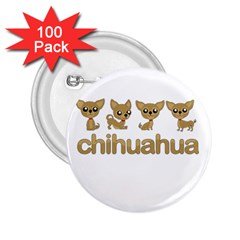 Chihuahua 2 25  Buttons (100 Pack)