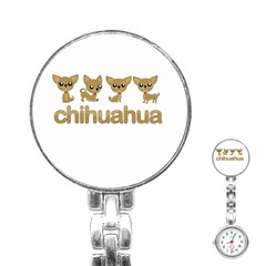 Chihuahua Stainless Steel Nurses Watch