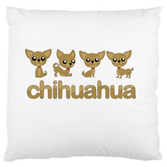 Chihuahua Large Flano Cushion Case (two Sides)