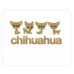 Chihuahua Double Sided Flano Blanket (medium)