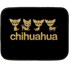 Chihuahua Fleece Blanket (mini)