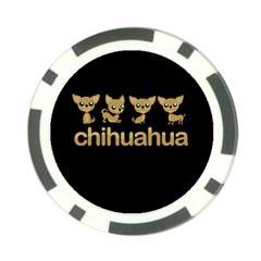 Chihuahua Poker Chip Card Guard (10 Pack)